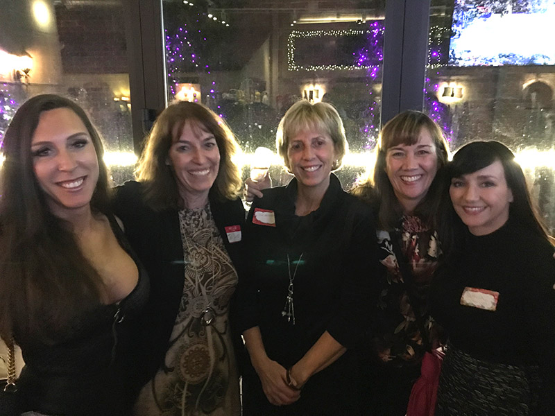 Lovely ladies enjoying the Milton Neighbors 11k Celebration Social