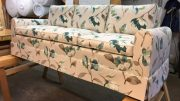 A reupholstered couch by Upholstery by Michael