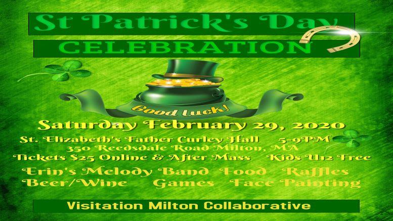 Visitation Milton Collaborative to hold St. Patrick's Celebration and Fundraiser