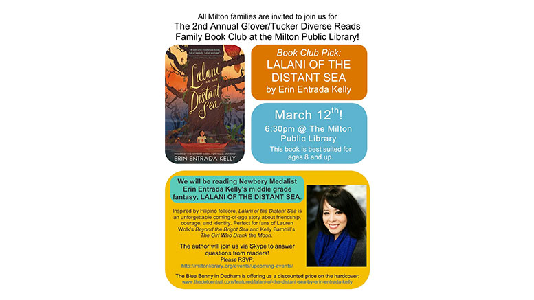 2nd Annual Diverse Reads Family Book Club to take place March 12, sponsored by Glover/Tucker Diversity Committees