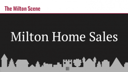 Milton Home Sales January 27-31, 2020