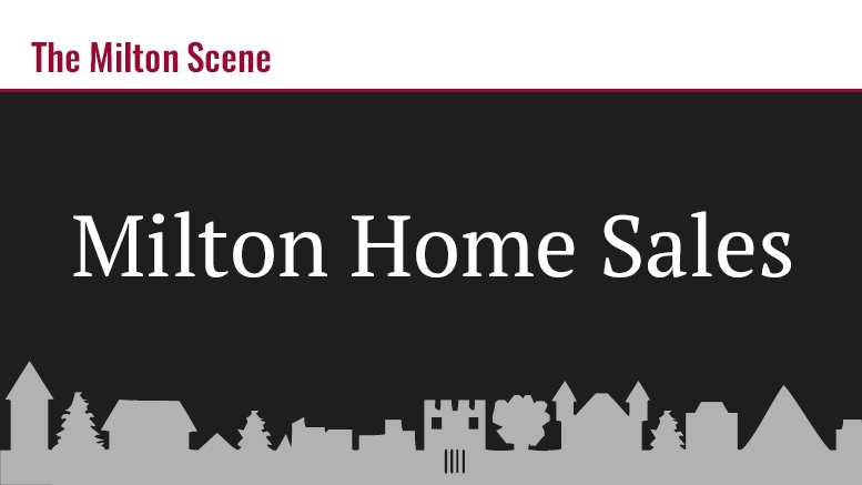 Milton Home Sales January 27-31, 2020