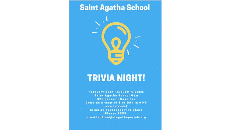St. Agatha holds Trivia Night