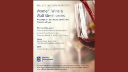 women wine and wall street