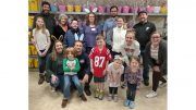 Volunteers assemble hundreds of bunny baskets at Interfaith Social Services