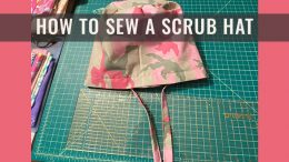 how to sew a scrub hat