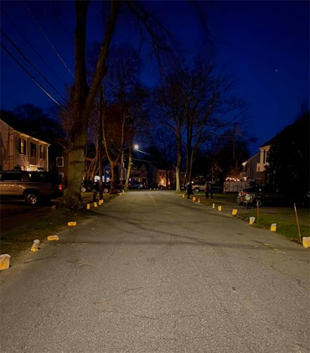 Luminaries in Milton. Photo by Jimmy Coyne.