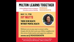 MSAPC presents: There is No Health Without Mental Health with Ivy Watts, Wed. May 13