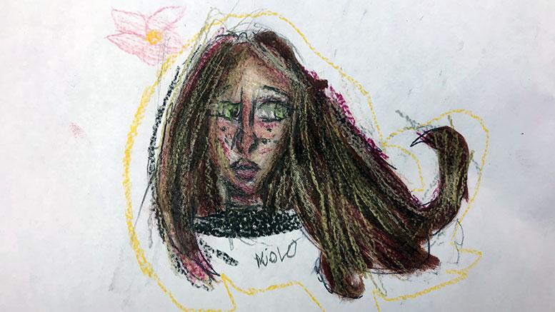Violet Dunn drawing