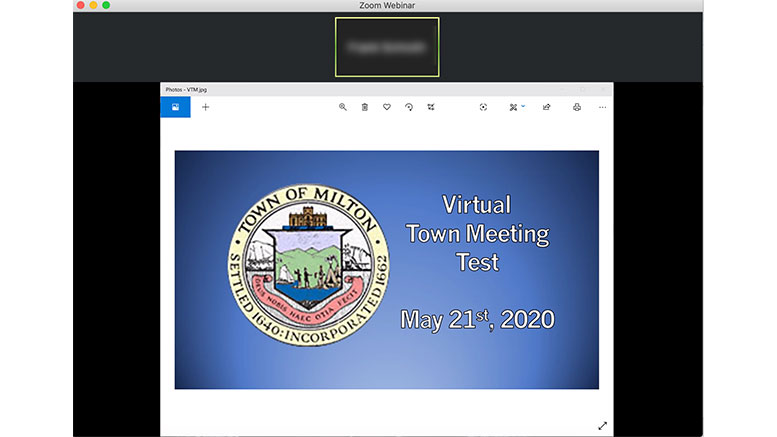 Milton virtual town meeting