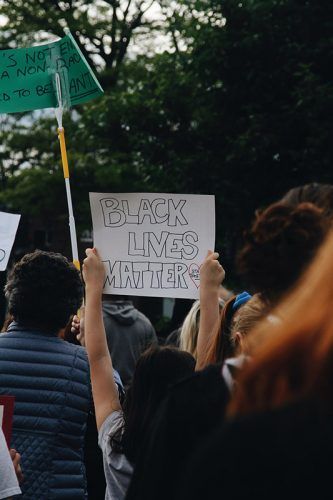 Black Lives Matter protest in East Milton Square. Photo by Meghan Donelan.