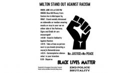 Milton Standout on Racism to take place June 4, 6:00 p.m.