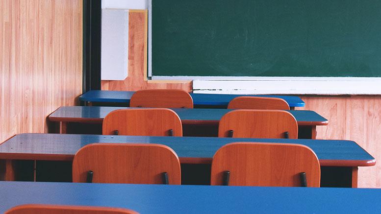 school chalkboard desks