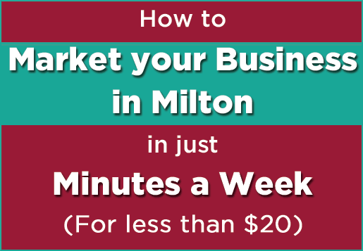 How to market your business in milton in jus minutes per week master class