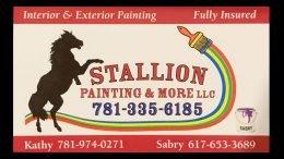 Stallion painting examples, milton ma