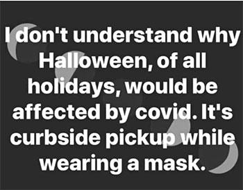 halloween covid meme