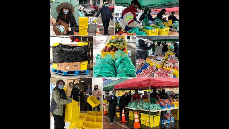 Community Fridge food drive. Photo Courtesy Elaine Benson.