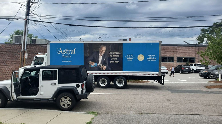 loading trucks in east milton square
