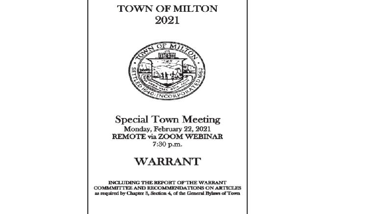 milton town warrant 2021