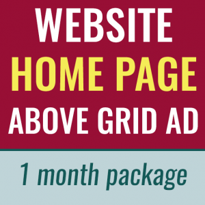 store image of website home page above grid ad