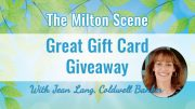 The Milton Scene great gift card giveaway - Jean Lang, Coldwell Banker realtor