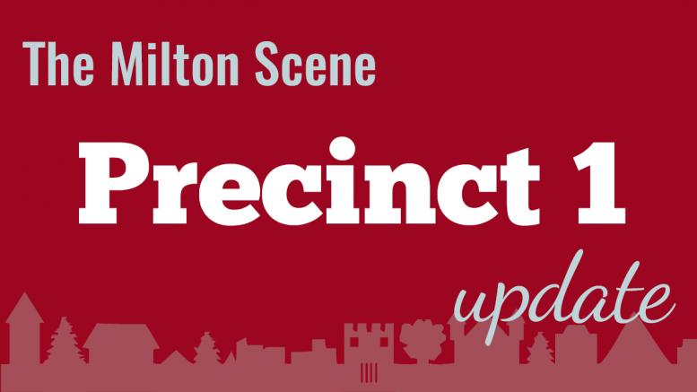 Milton Town Meeting Precinct 1 update