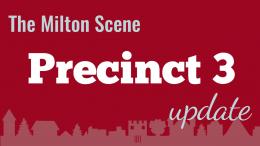 Milton Town Meeting Precinct 3 update