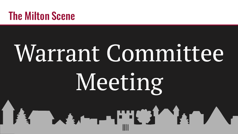 warrant committee meeting
