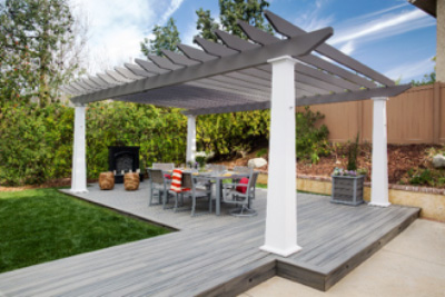 Capital construction trex decking and pergola example