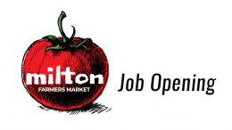 Job Posting: Milton Farmer's Market Manager