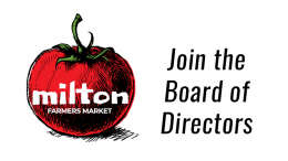Join the Milton Farmer's Market Board of Directors