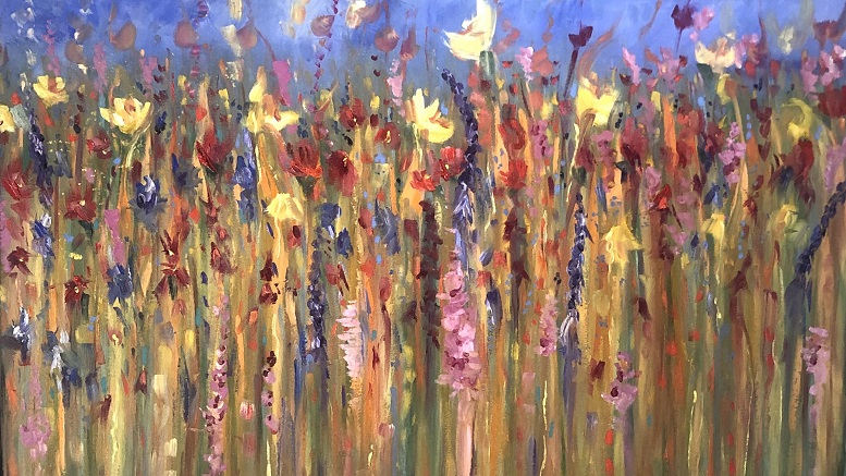 Painting by Nathalie Fitzgerald - Wildflower Field