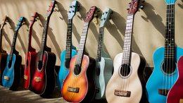 colorful guitars music