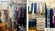 Styled neatly with Kelly McGreevy, before and after closet
