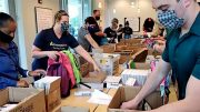 Local students receive backpacks from Interfaith's donors